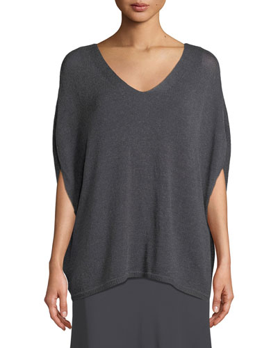 Plus Size Lived In Knit V-Neck Top