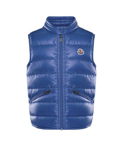 moncler vest blue