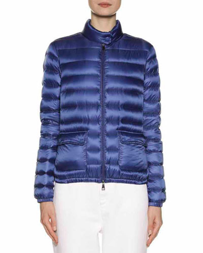 MONCLER LANS COLLARED DOWN JACKET, EBONY