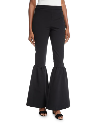 Fritz Flared-Leg Crepe Pants