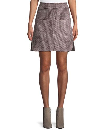 AMF Stitching Mini A-Line Skirt