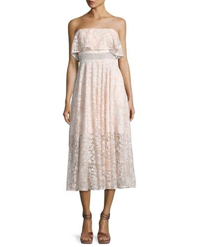 Thomas Strapless Lace Popover Dress
