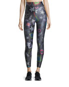Neon Crystals Tall-Band Leggings