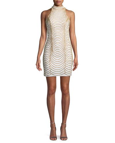 Layered Chain Mini Sheath Dress