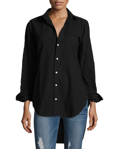 Grayson Button-Front Long-Sleeve Cotton Shirt