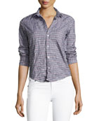 Barry Long-Sleeve Plaid Button-Down Shirt