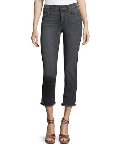 Fringe Cropped Jeans