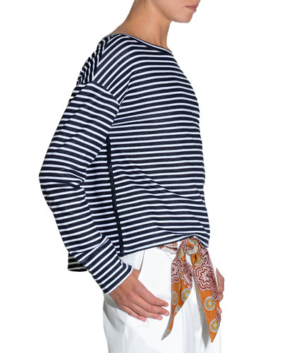 Striped Jersey Long-Sleeve T-Shirt