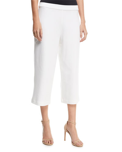 Cropped Wide-Leg Pants, Plus Size