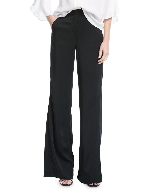 Miles Wide-Leg Crepe Pants