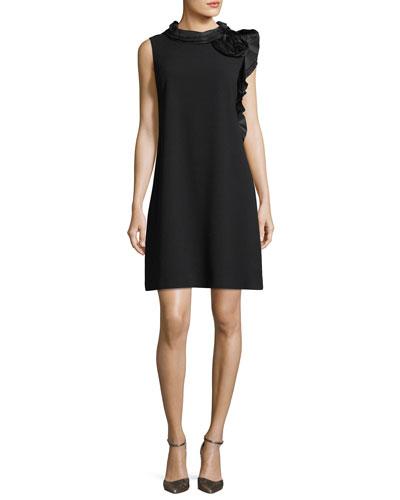 Sleeveless Asymmetric Ruffle Mini Cocktail Dress