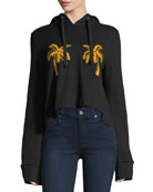 Valerie Hooded Palm-Embroidered Sweatshirt