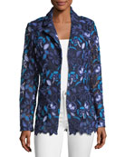 Provence Floral Lace Jacket, Plus Size