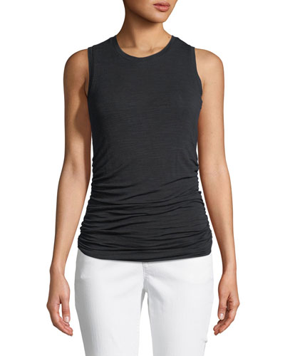 Ruched-Side Pullover Tank Top