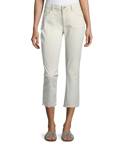 Stretch Organic Cotton Boyfriend Jeans, Petite