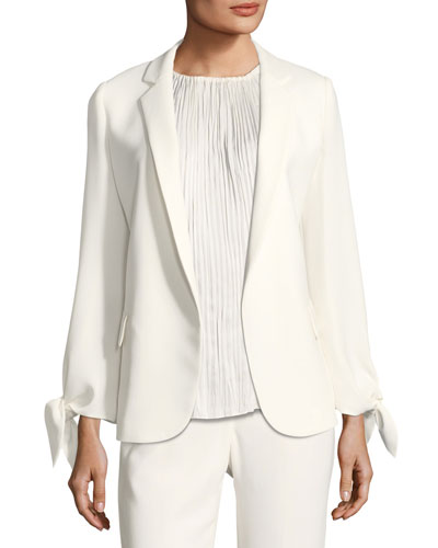 Bria Finesse Crepe Jacket, Plus Size