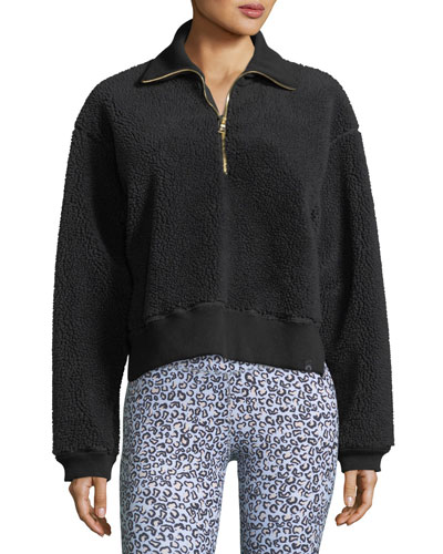 Daphne Partial-Zip Pullover Sweatshirt