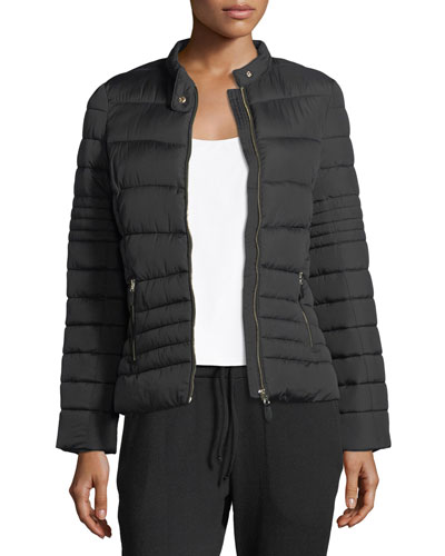 Vimmia Chateau Zip-Front Quilted Puffer Jacket