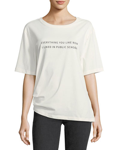 Everything I Like Crewneck Cotton T-Shirt