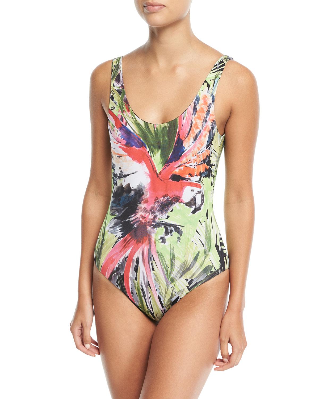 Kelly Scoop-Back One-Piece Swimsuit
