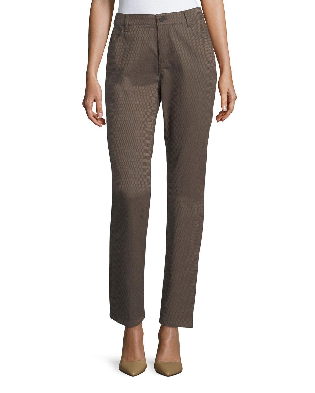 Thompson Elliptical Jacquard Slim-Leg Jeans