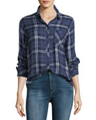 Hunter Button-Down Long-Sleeve Plaid Shirt