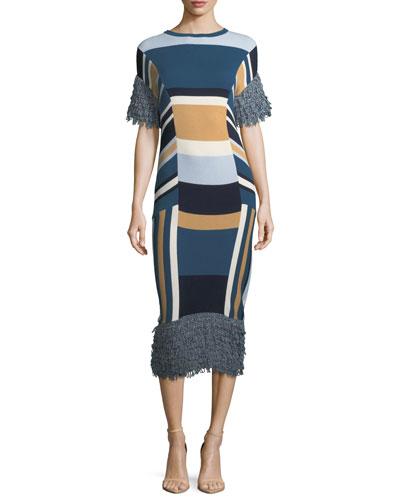 Mahal Striped Midi Dress
