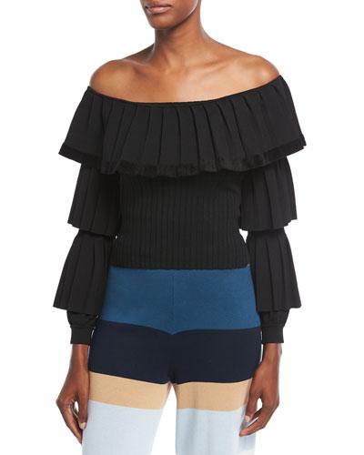 Baile Off-the-Shoulder Knit Top