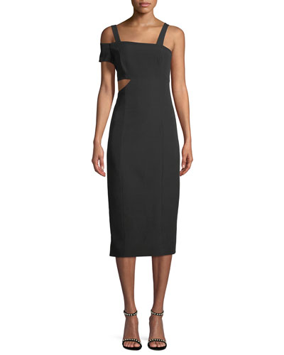 Marquette Cutout Asymmetric Cocktail Dress