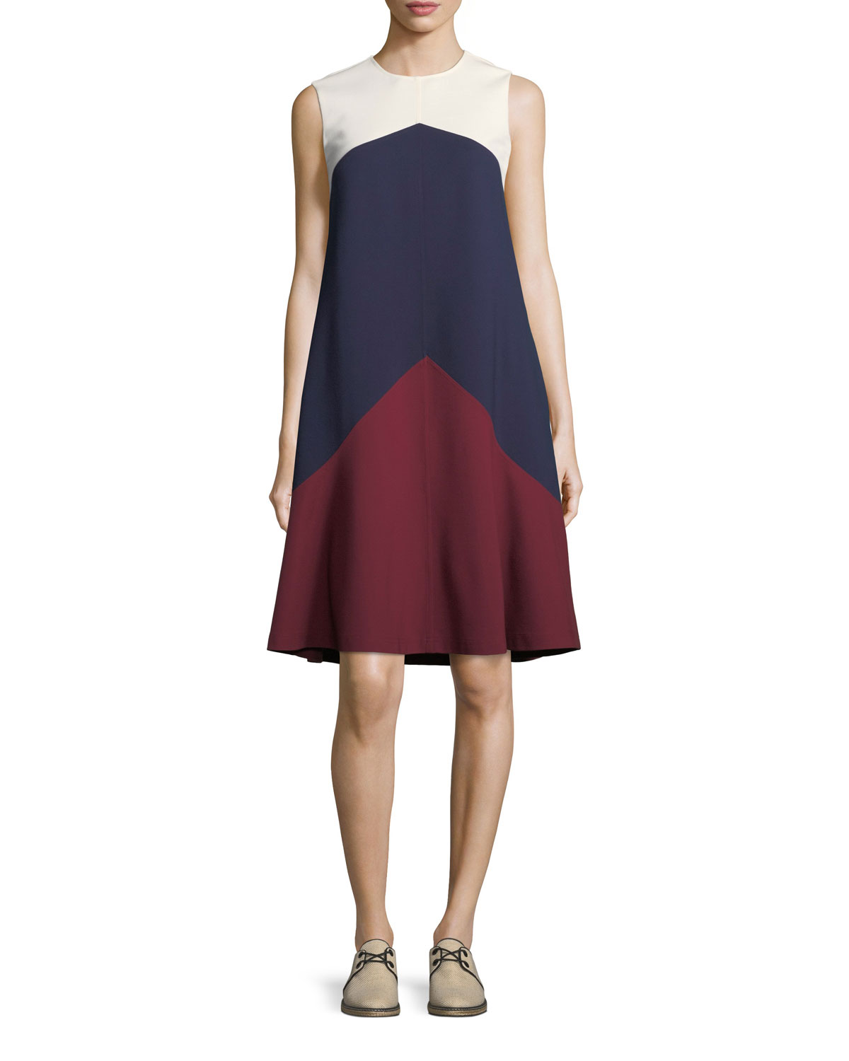 Willa Colorblock Trapeze Sleeveless Dress