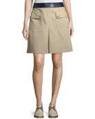 Joss Pocket-Front Canvas Skirt