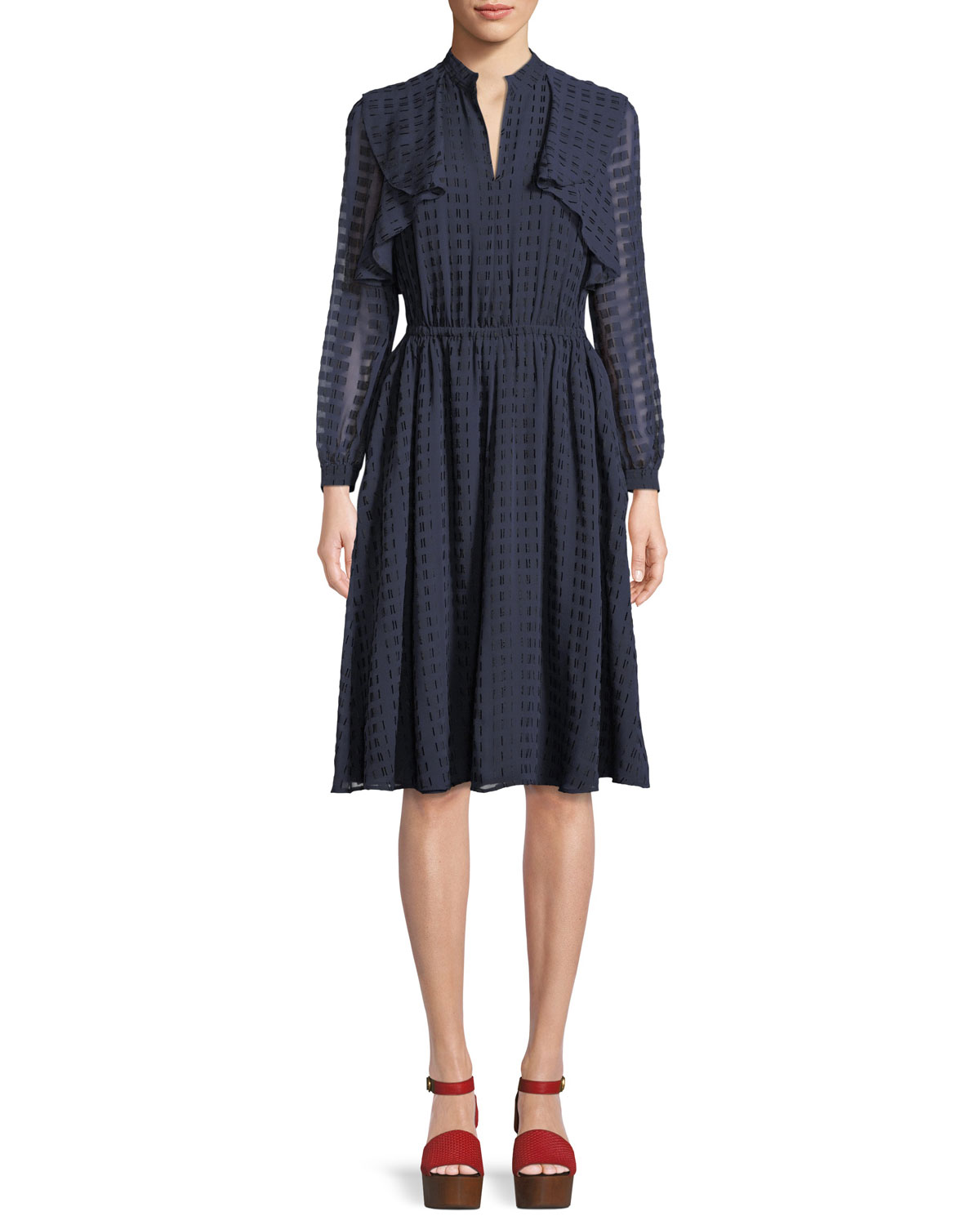Grace Tiered Long-Sleeve Dress