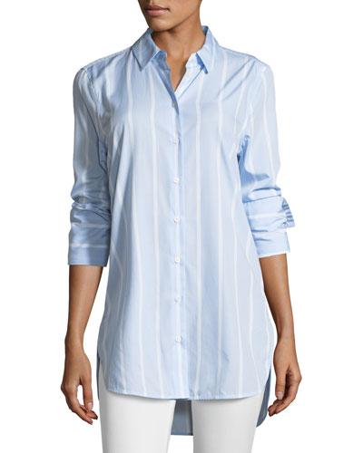 Arlette Pencil-Striped Poplin Shirt