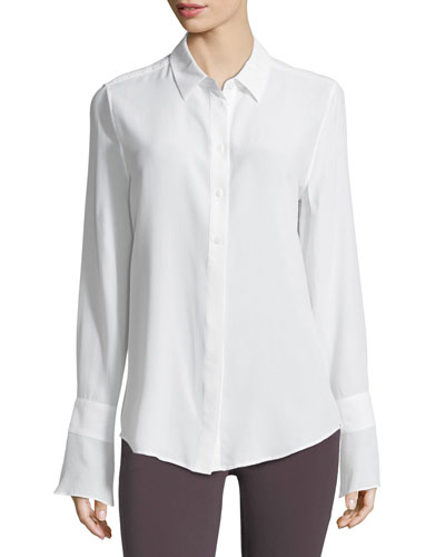 Daphne Button-Down Silk Shirt