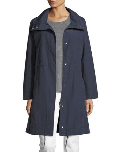 Weather-Resistant Long Jacket