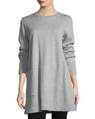 Single-Pocket Cotton Tunic