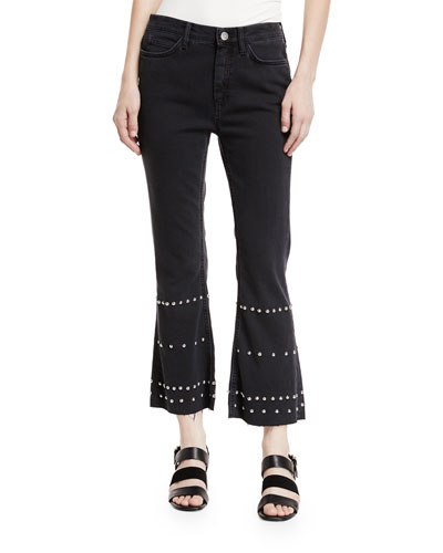 M.i.h Jeans MARTY MID-RISE FLARED CROP JEANS