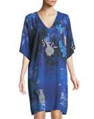 Audace Beaute Floral Tunic Coverup Dress