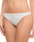 Macrame Boheme Hip Swim Bottoms with Embroidery