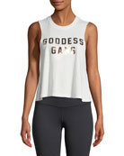 Goodness Gang Foil Crop Tank