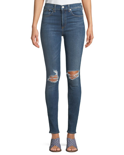 High-Rise 10 Inch Skinny Jeans