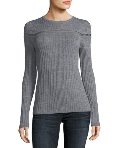 Emiri Mesh-Inset Sweater