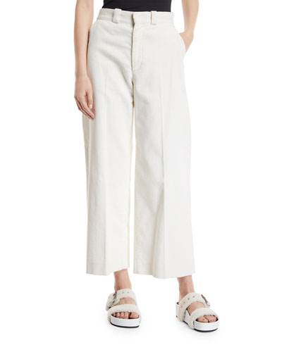 Lari High-Rise Wide-Leg Corduroy Pants