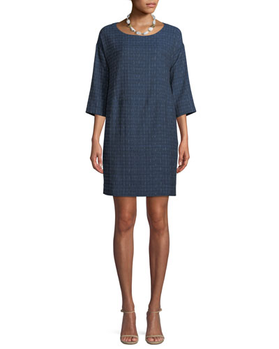 Shizuku Jacquard Cotton Mini Dress