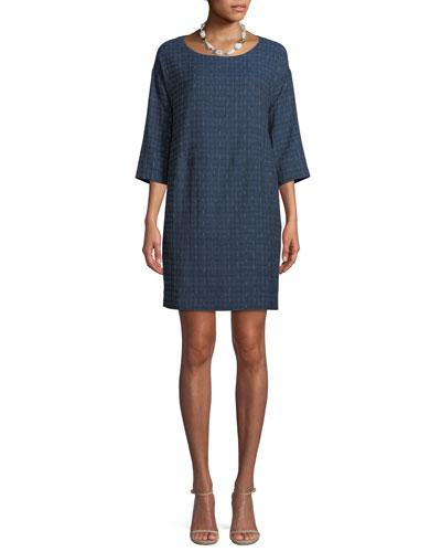 Shizuku Jacquard Cotton Mini Dress