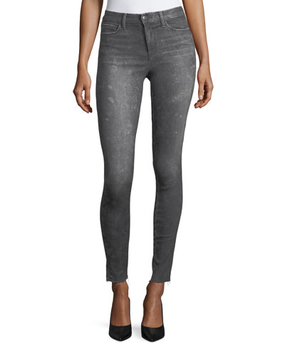 The Charlie Skinny-Leg Coated Jeans