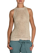 Hand-Knit Halter Sweater