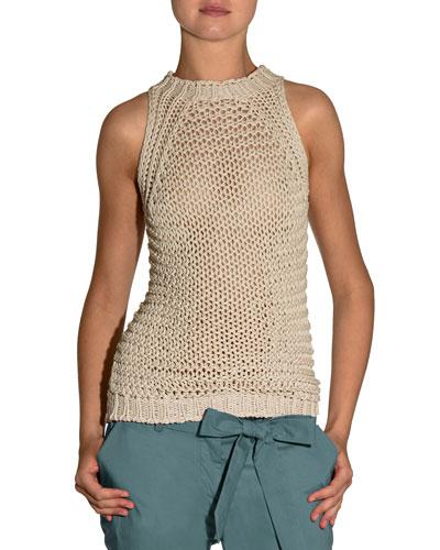 Hand-Knit Halter Sweater