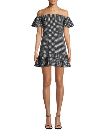 Amelia Off-the-Shoulder Minidress