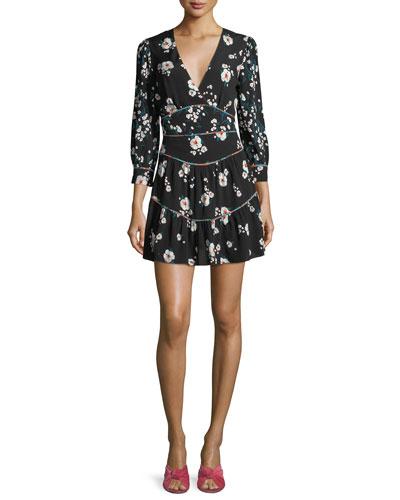Beli V-Neck Floral-Print Mini Dress